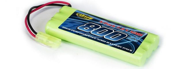 CARSON 500608129 Akku 7,2 Volt | 800 mAh | NiMH | Mini-TAMIYA-Stecker