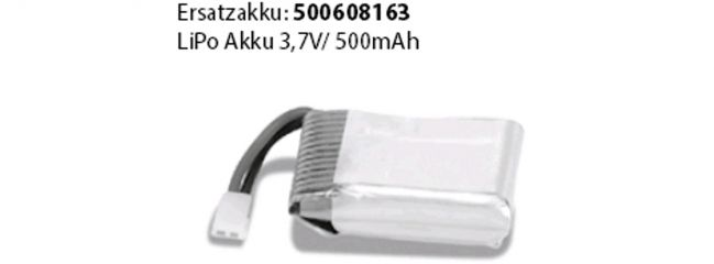 CARSON 500608163 LiPo Akku 500mAh | 3.7V | für Cessna Micro