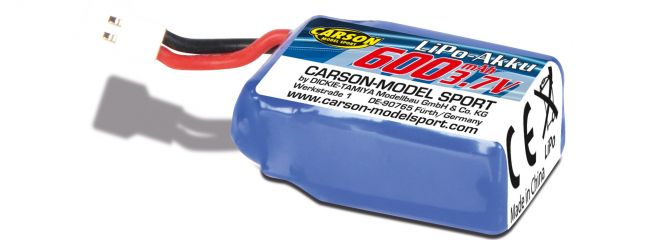 CARSON 500608167 Lipo Akku 600mAh | 1S | 3.7V | für CARSON Space Taxi
