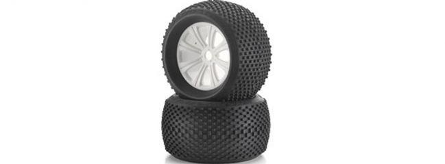 CARSON 500900059 Reifen-/Felgen-Set (2St.) für Streetbreaker 1:8
