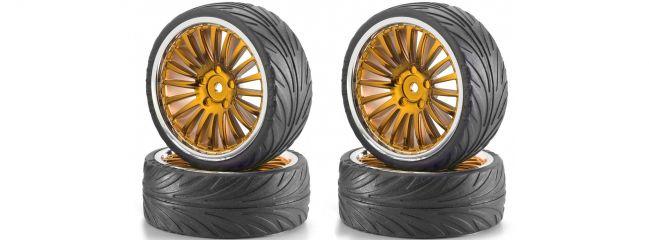 CARSON 500900083 Big Wheel-Set 01 20 Speichen orange-chrom 1:10