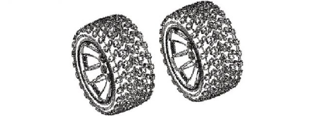 CARSON 500900107 FY10 Truggy Reifen-/Felgenset 2 Stück