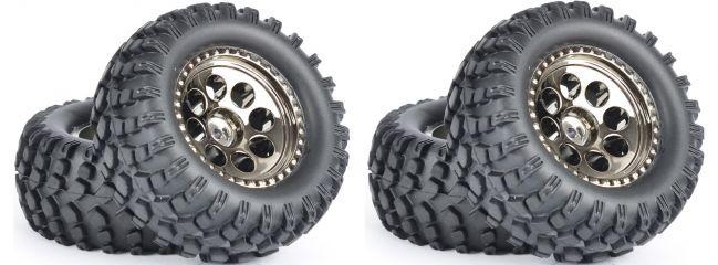 CARSON 500900140 Reifen-Set Offroad Cross Country | 4 Stück | für CC-01 Chassis