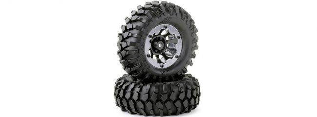 CARSON 500900557 Räder-Set Crawler schwarz 96mm | Inhalt: 2 Stück