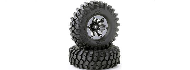 CARSON 500900559 Räder-Set Crawler schwarz 108mm | Inhalt: 2 Stück