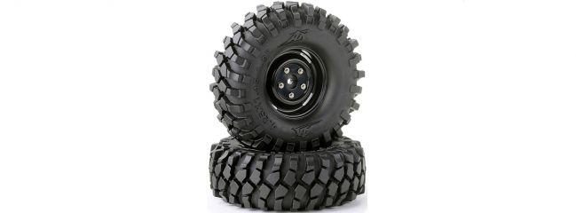 CARSON 500900560 Räder-Set Crawler schwarz 108mm | Inhalt: 2 Stück