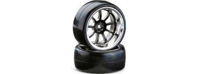 CARSON 500900615 Drift Räder-Set OND 9 Speichen chrom | 4 Stück | 1:10