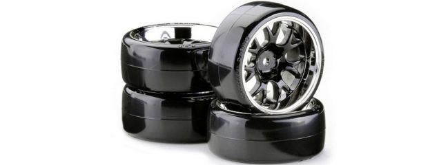 CARSON 500900621 Drift Räder-Set OND V Speichen chrom | 4 Stück | 1:10