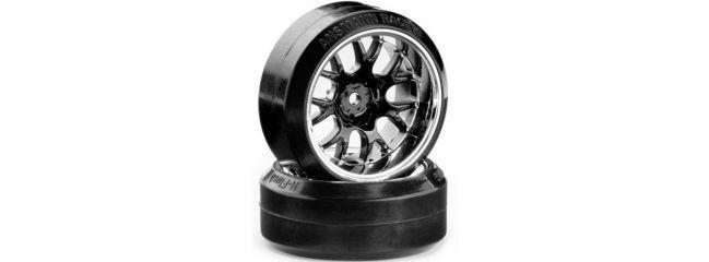 CARSON 500900625 Drift Räder-Set H-Fi V Speichen chrom | 4 Stück | 1:10