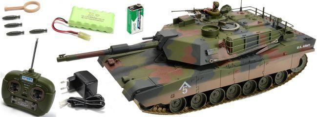 CARSON 500907187 M1A1 Abrams | 27MHz | RC Panzer RTR 1:16