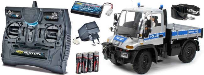 CARSON 500907290 Unimog U300 Polizei 2.4GHz | RC Unimog Komplett-RTR 1:12