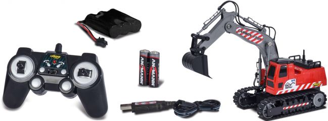 CARSON 500907309 Raupenbagger 2.4GHz | RC Baumaschine RTR 1:26