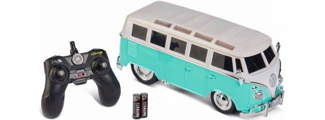 CARSON 500907324 VW T1 Samba Bus türkis | GHz | RC Auto Komplett-RTR 1:14
