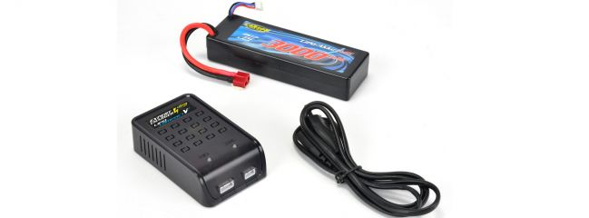 CARSON 500607007 Expert Charger LiPo Compact V2 Ladeset | Ladegerät + Akku