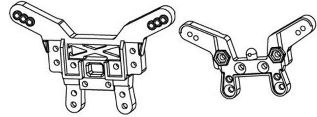Carson 500405144 CV/ CE-10 Dämpferbrückenset verstärkt