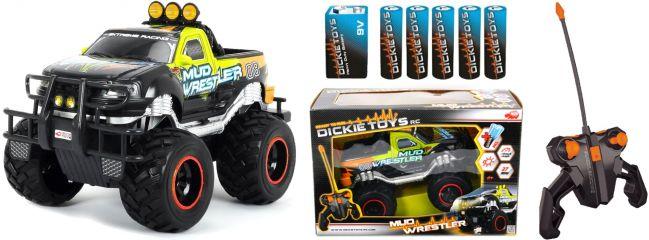 Dickie Toys 33619197 Mud Wrestler RC-Monstertruck | RTR | 27Mhz | 1:16