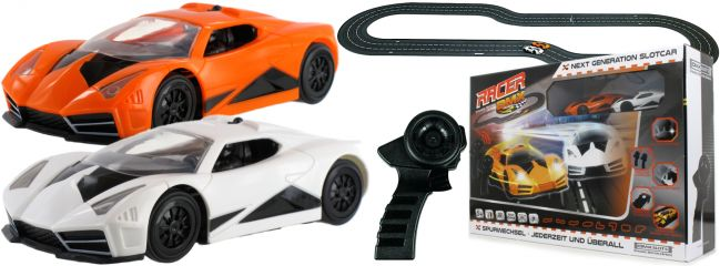 ausverkauft | DMX 17300661 G2 Racer Road Warrior | kabellose Controller | Autorennbahn Starter Set 1:32