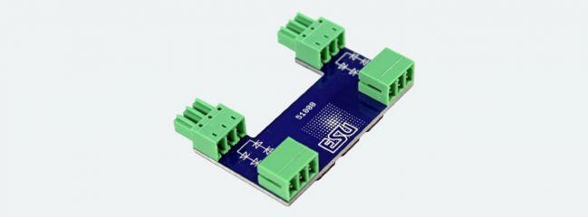ESU 51808 SwitchPilot Extension Adapter für ABC Bremsstrecken. Set mit 2 Stück für insgesamt 4 Brems