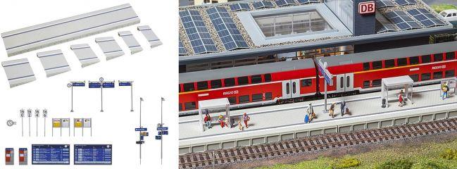 FALLER 120202 Moderner Bahnsteig mit Zubehör Bausatz Spur H0