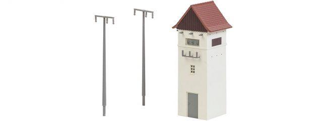 FALLER 120241 Trafohäuschen mit Strommasten | Bausatz Spur H0