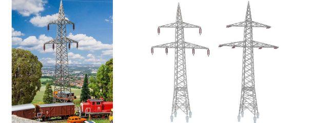 FALLER 130898 2 Freileitungsmasten (100 kV)   Zubehör Spur H0
