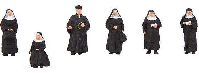 FALLER 150942 Nonnen und Pfarrer   6 Stück   Figuren Spur H0