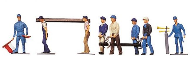 FALLER 151000 Gleisbauarbeiter mit Zubehör | Miniaturfiguren Spur H0