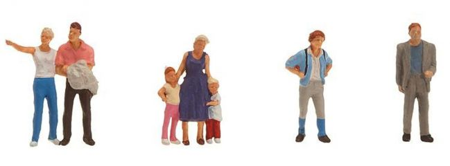 FALLER 151086 Touristen | 7 Miniaturfiguren Spur H0