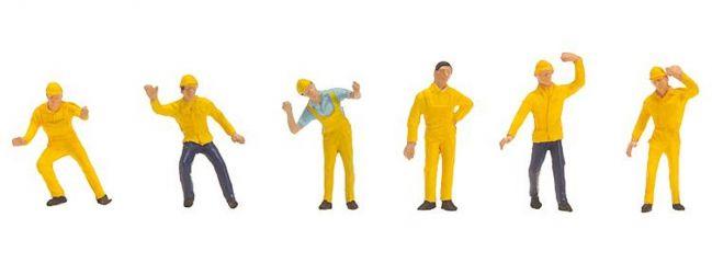 FALLER 151088 Industriearbeiter | 6 Stück Miniaturfiguren | Spur H0