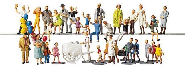 FALLER 153006 Kirmesbesucher | 36 Stück Miniaturfiguren |  Spur H0