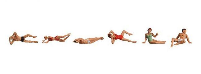 FALLER 153040 Badegaeste | 6 Miniaturfiguren | Spur H0