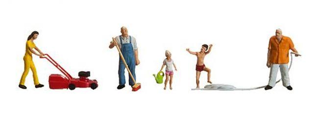 FALLER 153041 Hobbygaertner | 5 Miniaturfiguren | Spur H0