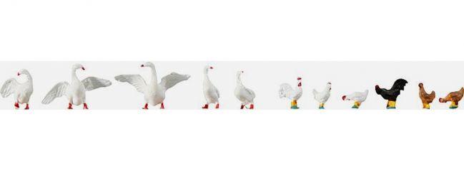 FALLER 154010 Hühner + Gänse | Miniaturfiguren | Spur H0