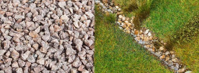 FALLER 170304 Streumaterial Flusssteine beige 650gr für alle Spurweiten geeignet