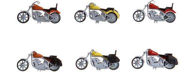 FALLER 180603 Motorraeder Bausatz | 6 Stück | Spur H0