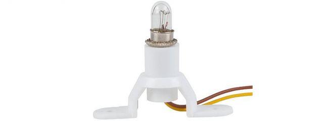 FALLER 180670 Beleuchtungssockel | 12 - 16 Volt | mit Birne E 5,5 mm | 1 Stück
