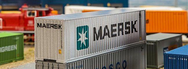 FALLER 180840 40ft Hi-Cube Container MAERSK Zubehör Spur H0