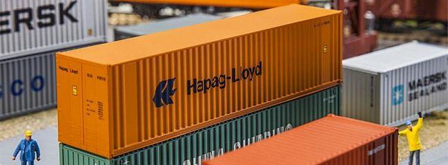 FALLER 180841 40ft Hi-Cube Container Hapag Lloyd Zubehör Spur H0
