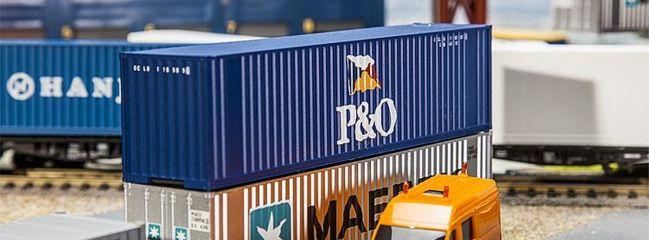 FALLER 180843 40ft Hi-Cube Container P+O | Zubehör Spur H0