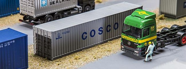 FALLER 180845 40ft Container COSCO Zubehör Spur H0