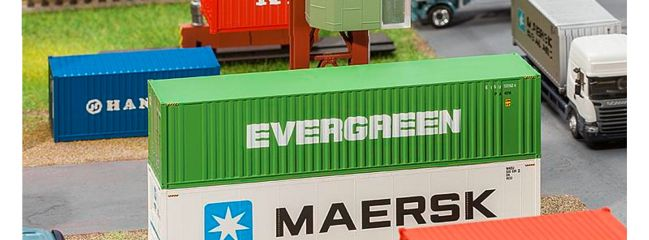 FALLER 180846 40 ft Container Evergreen | Spur H0