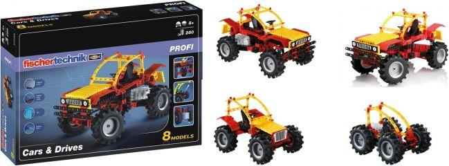 fischertechnik 516184 PROFI Cars & Drives | Baukasten für 8 Modelle