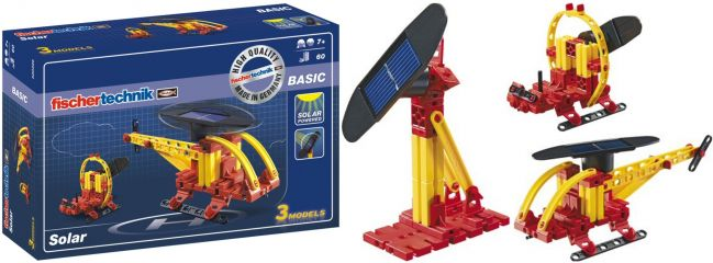 fischertechnik 520396 BASIC Solar | Hubschrauber/Airboat/Ventilator Bausatz
