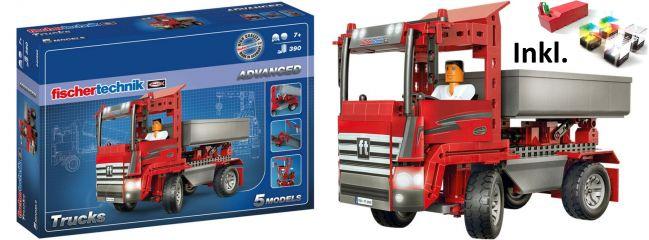 fischertechnik 541324 ADVANCED Trucks mit LED-Set | 5 Modelle | ab 7 Jahren