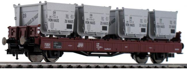 FLEISCHMANN 523301 Behältertragwagen Bauart Lbs 583 DB   DC   Spur H0