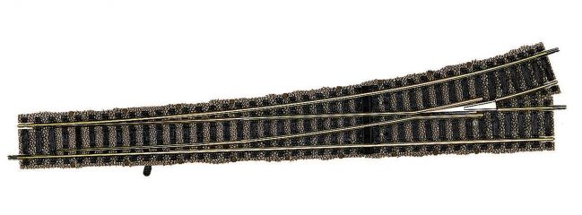 FLEISCHMANN 6178 hanbetriebene Schnellfahrweiche links | 300 mm Länge | PROFI-Gleis | Spur H0