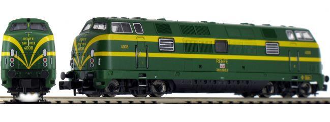 FLEISCHMANN 725080 Diesellok Serie D.340 grün/gelb RENFE | DCC-Sound | Spur N