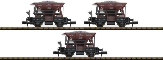 FLEISCHMANN 822705 Schotterwagen-Set Bauart Talbot | 3-tlg | DB | DC | Spur N