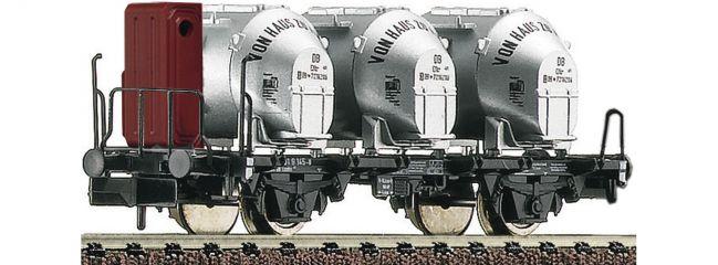 FLEISCHMANN 823701 Behältertragwagen Bauart Bt10 Bremserhaus Behältern DB | DC | Spur N