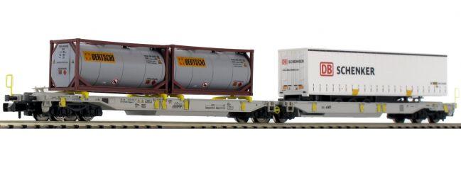 FLEISCHMANN 825004 Doppeltaschen-Gelenkwagen T2000 DB | DC | Spur N